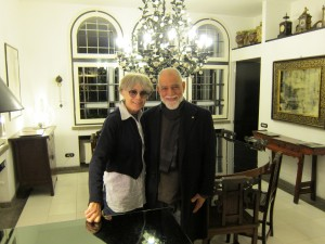 Mestre DeRose com Erminia Manfredi